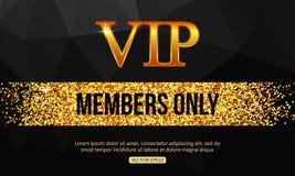 Złocisty VIP tło VIP klub Członkowie tylko VIP ilustracja wektor