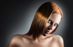 złocisty włosy Zdjęcia Royalty Free