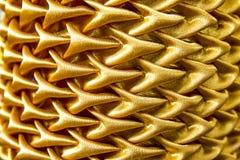 Złocisty zasłony tekstury tło. Fotografia Stock