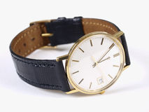 złocisty zegarek Fotografia Royalty Free