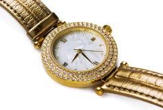 złocisty zegarek zdjęcie royalty free