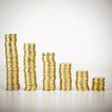 Złocistych monet sterta Zdjęcie Royalty Free