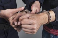 Złodziej aresztujący zdjęcie royalty free