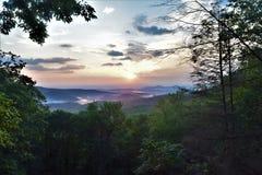 Złota łuna Chattahoochee las państwowy obraz stock