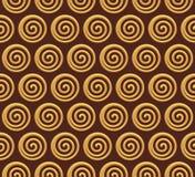 Złota ślimakowaty wektorowy bezszwowy tło ilustracji
