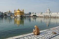 Złota świątynia przy Amritsar Zdjęcie Royalty Free
