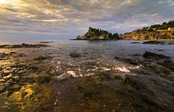 Złota światło na wyspie Obraz Stock