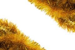 Złota świecidełko rama Zdjęcia Royalty Free