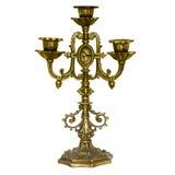 Złota świeczka na białym tle Obraz Stock