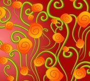 złota abstrakcyjnych tła róże royalty ilustracja