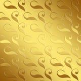 Złota adamaszkowy tło Zdjęcie Stock