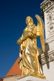 złota anioł statua Obrazy Royalty Free