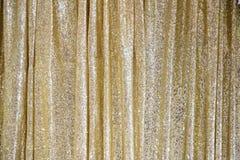 Złota błyskotliwa zasłona Fotografia Royalty Free