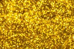 Złota błyskotliwości tekstura Colorfull Zamazywał abstrakcjonistycznego tło dla Zdjęcie Royalty Free