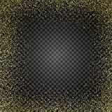 Złota błyskotliwości tekstura na odosobnionym tle Podeszczowy Złoty Wybuch złociści confetti elementy projektu podobieństwo ilust ilustracji