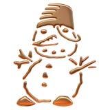 Złota bałwan ikona Zdjęcie Stock