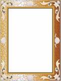 Złota barok rama, tło ilustracja wektor