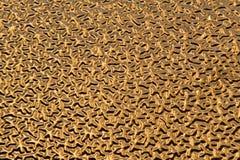 Złota Barwiony Trójwymiarowy Abstrakcjonistyczny tło Zdjęcie Royalty Free