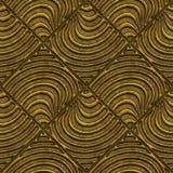Złota bezszwowa tekstura z reliefowym wzorem ilustracja wektor