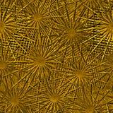Złota bezszwowa tekstura z reliefowym wzorem na tle ilustracja wektor