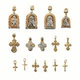 złota biżuterię religii Zdjęcie Stock