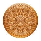 Złota biżuterii odznaka odizolowywająca na bielu Zdjęcia Stock