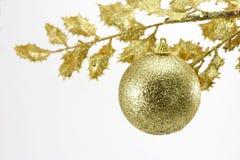 złota Boże Narodzenie dekoracja Obraz Royalty Free