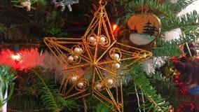 złota Boże Narodzenie gwiazda Fotografia Royalty Free