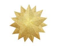 Złota boże narodzenie gwiazda odizolowywająca na bielu zdjęcie royalty free
