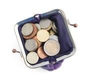 Złota, brązowych i srebnych monety, Zdjęcia Royalty Free