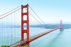 złota bridżowa brama fotografia stock