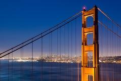 złota bridżowa brama Fotografia Royalty Free