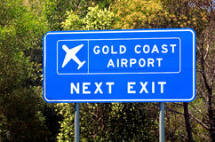 Złota Brzegowy lotnisko w Queensland Australia Fotografia Royalty Free
