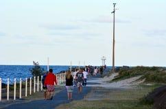 Złota Brzegowy Seaway - Queensland Australia Zdjęcia Royalty Free