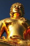 Złota Buddha statua Obrazy Royalty Free
