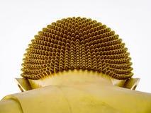 Złota Buddha wizerunku głowa fotografia stock
