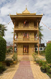 złota Cambodia pagoda przeprowadzać żniwa siem Obraz Stock