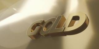 Złota 3d-illustration złoty tło ilustracji