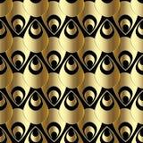 Złota 3d Paisley bezszwowy wzór Abstrakcjonistyczny wektorowy tło wal Fotografia Stock