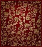 złota deseniowa czerwieni róża bezszwowa ilustracji