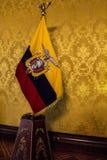 Złota Ekwadorska flaga Zdjęcia Royalty Free