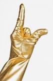 Złota elegancka rękawiczka zdjęcie royalty free