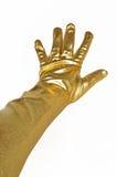 Złota elegancka rękawiczka obrazy royalty free