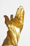 Złota elegancka rękawiczka obrazy stock