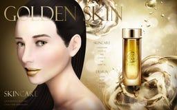 Złota esenci reklama royalty ilustracja