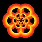 złota fractal zielone pomarańcze Obrazy Stock