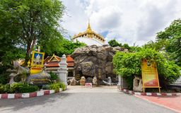 Złota góra przy Watem Saket, jeden najwięcej podróż punktu zwrotnego b Fotografia Stock