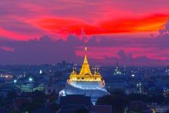 Złota góry świątynia najwięcej podróż punktu zwrotnego obrazy royalty free