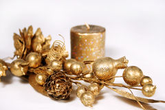 złota gałęziasta świeczka obraz stock