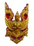 Złota garuda brama świątynia Obraz Royalty Free